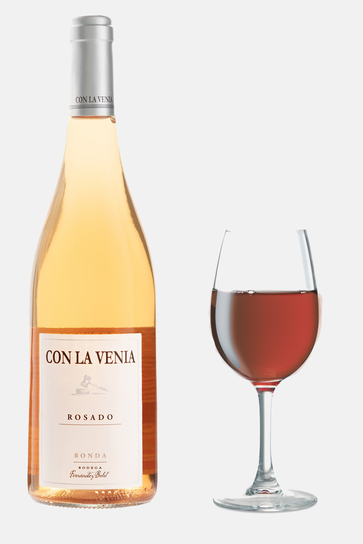 Vino rosado de la Bodega de Ronda Fernandez Bolet